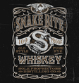 Vintage Whiskey Label T-shirt Graphic vector image