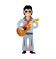Musician parody artist with a guitar Rock vector image vector image