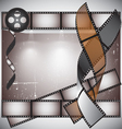 Camera film roll background vector image
