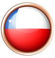 round badge with chile flag vector image