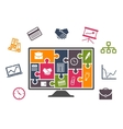 Business infographics with colorful icons vector image