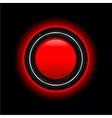 futuristic red button vector image
