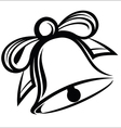 Bell with ribbon vector image