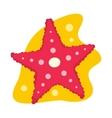 Starfish flat icon vector image vector image