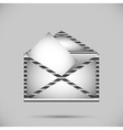 Metal envelope with letter vector image