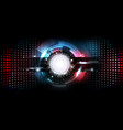 abstract futuristic electronic circuit technology vector image