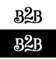 B2B logo design template on white and black vector image