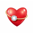 Heart with ring vector image