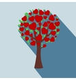 icon a tree in flat style vector image