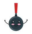 pan kitchen cook kawai character vector image