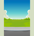 pavement and green park background vector image