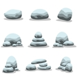 Set of natural stones collection vector image