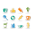 Sweet food and confectionery vector image