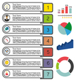 Business elements infographic with icons and money vector image