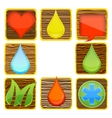 web nature and creative wood symbols set vector image vector image