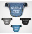 Set of jeans lebels vector image vector image