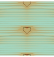 Heart abstract background vintage pattern vector image