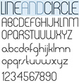 Poster thin black font and numbers on white vector image