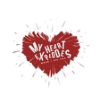 Valentine day lettering background Heart vector image