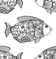 seamless pattern fish vector image