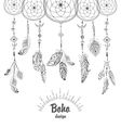 Background with Native American Indian Talisman vector image