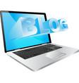 computer blog vector image