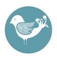 cute ornamental bird icon vector image