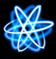 glow neon light atom model vector image