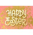 Happy Easter Gold leaf boho chic greeting card vector image