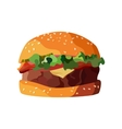 Home made hamburger on isolated white background vector image