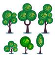 stylized plants set vector image