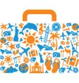 travel and vacation icons suitcase vector image