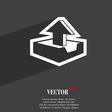 Upload icon symbol Flat modern web design with vector image