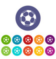 soccer ball set icons vector image