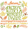 abstract hand drawn alphabet modern font abc vector image