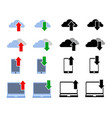 download upload simple icon vector image