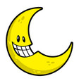 Moon smiling cartoon vector image