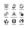 science pictograms genetics algebra vector image