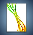 Bright smooth swoosh wave brochure cover design vector image vector image