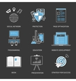 Flat design modern concept for vector image