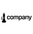 chess strategy logo vector image vector image