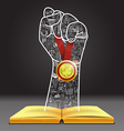 Hand victory vector image vector image