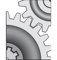 Gear pair vector image vector image