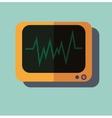 Pulse monitoring flat icon vector image