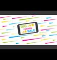 big fashion sale on mobile banner concept design vector image