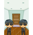 Bodyguards vector image