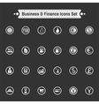 Buisiness icon set vector image
