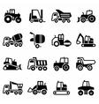 Construction transport icon set vector image