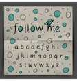 Handwriting Alphabet - Follow me vector image