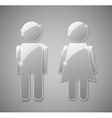 male female glass element vector image